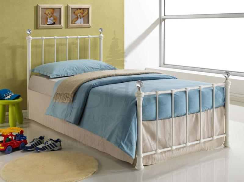 BIRLEA Jessica 3ft Single Cream Metal bed Frame £104